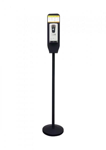 Handdesinfektionsstation Premium   schwarz   bedruckt