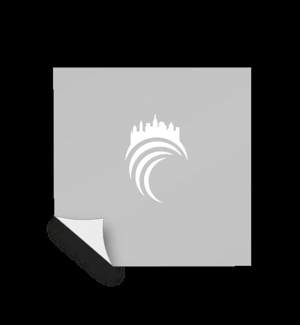 Aufkleber Monomer 1D - weiß und transparent