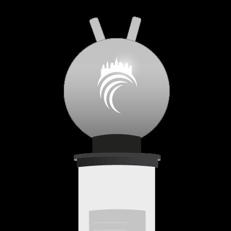 Aufblasbarer Hüpfball als Sonderproduktion